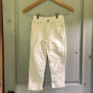 Justice Jeans white size 8S boyfriend style.